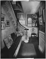 Bayshore, New York: stairway and hall, Sagtikos Manor House, undated.