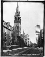 Manhattan: Dr. Tyng's Church (i.e. Holy Trinity Church), East 42nd Street and Madison Avenue, 1880.