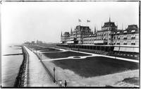 Brooklyn: the Oriental Hotel and boardwalk, Manhattan Beach, undated (ca. 1905). View from the southeast.