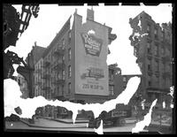 160 to 166 West Broadway, New York City, undated (ca. 1920). Heavy emulsion damage to neg.