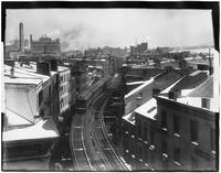 Bronx: downtown section of the elevated railroad, undated.