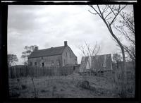 Long Island City: [Cornelius Wyckoff House, Old Bowery Bay Road on line of 2nd Avenue between Astoria and North Beach, at the end of the Casina (?) Gas Plant, 1923. Rear view.]