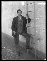 O'Neill (young man in workmen's overalls, 24 State Street, [city unknown], undated.