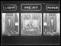Hotpoint window display at the  United Electric Light & Power Company store, New York City, May 6, 1915. Photographed for the United Electric Light & Power Company.