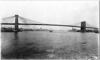 Manhattan: the full span of the Brooklyn Bridge, viewed from the south, from the water, 1903.