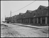 Cottages on Beach 41st Street looking south to the ocean, Edgemere, the Rockaways, Queens, June 17, 1914. Photographed for Joseph P. Day.
