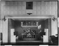 Bayshore, New York: fireplace in drawing room, Sagtikos Manor House, undated.