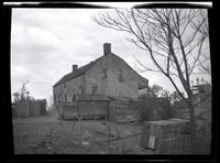 Long Island City: [Cornelius Wyckoff House, Old Bowery Bay Road on line of 2nd Avenue between Astoria and North Beach, at the end of the Casina (?) Gas Plant, 1923. Side view.]