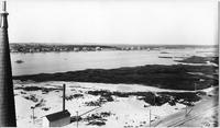 Brooklyn: high-angle view of land owned by the Manhattan Beach Land Co., taken from the Manhattan Beach Hotel, undated (ca. 1905). Left half of a panorama.