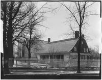 Bronx: unidentified 17th or 18th century Dutch farmhouse on Evergreen Avenue, undated.