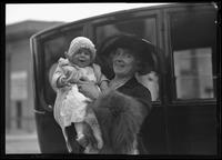 Mrs. Charles Saus and baby, March 27, 1921.