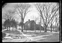 3/4 view of an unidentified saltbox farmhouse, undated.