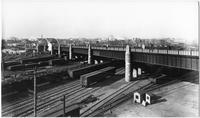 Bronx: Willis Avenue Bridge over the Harlem River, undated (ca. 1900). Railroad yard in foreground.