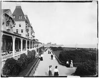 Brooklyn: Brighton Beach Hotel garden and verandah, undated.