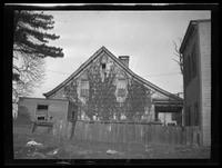 Newtown: [side view of unidentified old Dutch farmhouse, undated.]
