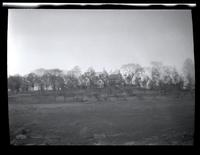 Long Island City: [double exposure of a large unidentified house on a hill, undated.]