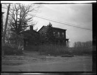 Newtown: [unidentified old wood-shake house, undated.]