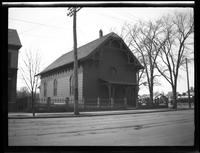 Newtown: [unidentified house or church, undated.]