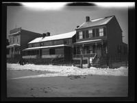 Newtown: [unidentified wood garage on commercial street, in good repair, undated.]