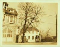 Newtown: Middle Village Volunteer Fire House, north side of Metropolitan Avenue, opposite the second gate to the old Lutheran Cemetery, 1923.