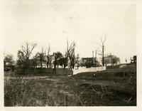 Newtown: Isaac Rapelye House (Lent Riker Smith House) and the Riker-Lent Cemetery, on the north side of Bowery Bay Road, 1923