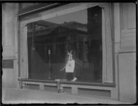 Memorial window display for unidentified man at Arnold Constable & Company, New York City (?), undated (ca. 1920).