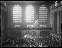 Interior of the main hall of Grand Central Terminal, New York City, during an unidentified event, undated (ca. 1920).