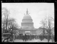 Crowd gathering outside the U.S. Capitol building, Washington D.C., undated (ca. 1930-1935).