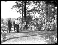 Garden party near an unidentified lake, undated (ca. 1930-1935).