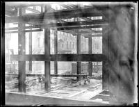 View from inside a building under construction, New York City (?), undated (ca. 1930-1935).
