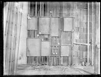 Fuse boxes in a building under construction, New York City (?), undated (ca. 1930-1935).