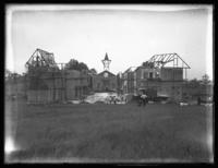 Erecting a Belgian village set for the picture 'Lest We Forget,' Westchester County, N.Y., August 18, 1917.