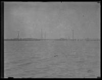 View of and unidentified bay and damaged bridge (?), undated (ca. 1930-1935). Possibly Holland Island, Maryland.