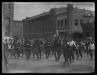 Soldiers on parade, Baltimore, Maryland, undated (ca. 1917-1918).