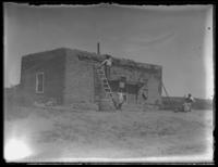 An unidentified Mexican home, Agua Fria, New Mexico, September 22, 1915.