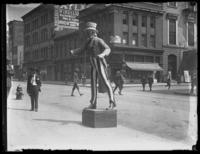 Plaster statue of Uncle Sam, painted, Baltimore, Maryland, undated (ca. 1917-1918).
