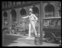 Plaster statue of Uncle Sam, unpainted, Baltimore, Maryland, undated (ca. 1917-1918).