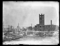 Unidentified ruined buildings (aftermath of a fire?), undated (ca. 1935).