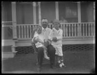 Eldredge France, Captain Clel, and Raymond, Chance, Maryland, August 1919.
