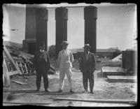 D.F. Atkins, Mr. Mixell, and Mr. Zuppinger, Amcelle, Maryland, May 1919.