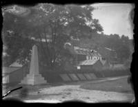 Monument marking John Brown's fort, Harper's Ferry, West Virginia, May 1919.