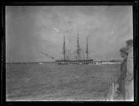 Unidentified reproduction masted ship, undated (ca. 1919?).