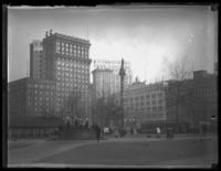 Public Square, including the May Company Building and the Soldiers and Sailors Monument, Cleveland, Ohio, undated (ca. 1919).