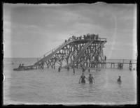 Water slide, Put-In-Bay, South Bass Island, Ohio, undated (ca. 1918-1922).
