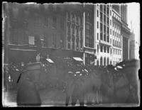 Crowd gathered in an unidentified location, New York City, undated (ca. 1921).