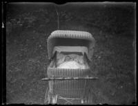 Infant Virginia Bjorkman in a stroller, Baltimore, Maryland (?), undated (ca. 1919-1921).