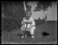 Eldredge France on a toy bicycle, Chance, Maryland, undated (ca. 1919-1920).