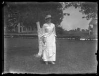 Ruth France in her wedding dress, Chance, Maryland, undated (ca. 1919-1920).