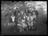 Wedding group portrait including members of the France family and unidentified individuals, Chance, Maryland, undated (ca. 1919-1920).