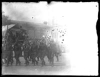 Soldiers from the Army's 29th Division marching in a parade, Baltimore, Maryland, undated (ca. 1919).